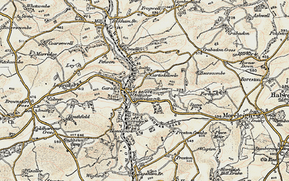 Old map of Wheeldon in 1899