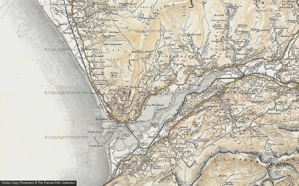 Old Map of Historic Map covering Afon Dwynant in 1902-1903