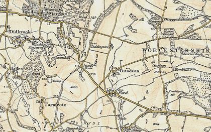 Old map of Cutsdean in 1899-1900
