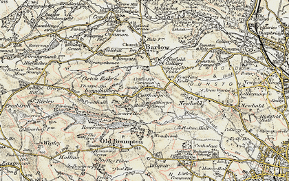 Old map of Woodnook in 1902-1903