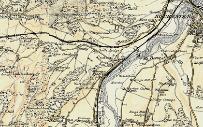 Old map of Wouldham Marshes in 1897-1898