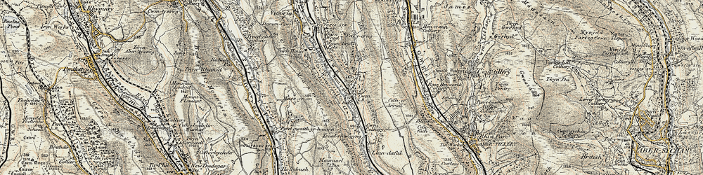 Old map of Cwm in 1899-1900