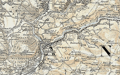 Old map of Afan Argoed Forest Park in 1900-1901