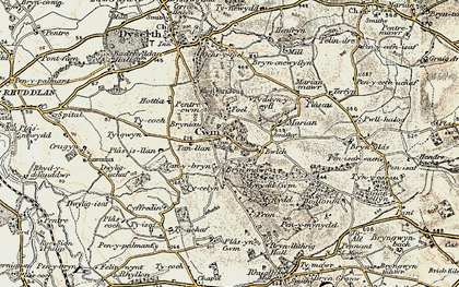 Old map of Cwm in 1902-1903