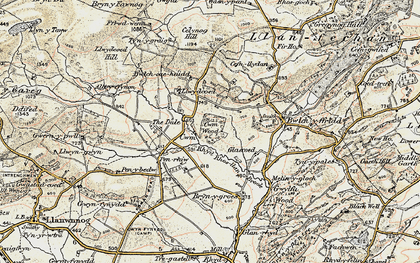 Old map of Alltyffynnon in 1902-1903