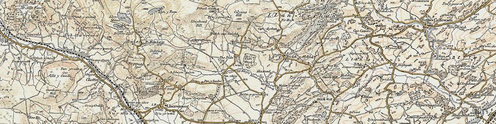 Old map of Alltyffynnon in 1902-1903