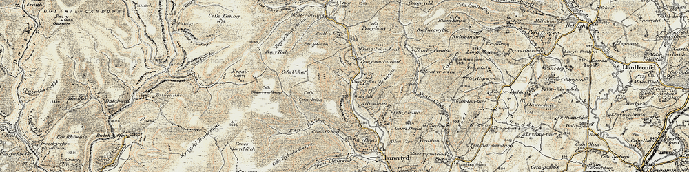 Old map of Alltwineu in 1901-1902