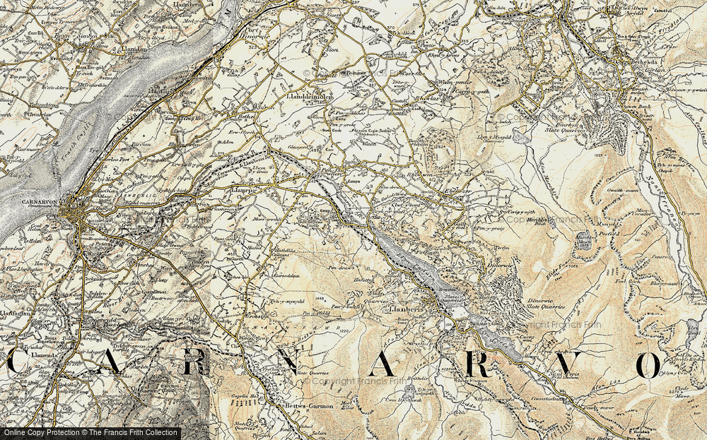 Old Map of Cwm-y-glo, 1903-1910 in 1903-1910