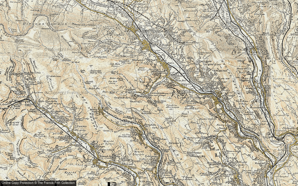 Old Map of Cwmaman, 1899-1900 in 1899-1900