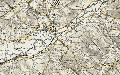 Old map of Cwmann in 1901-1902
