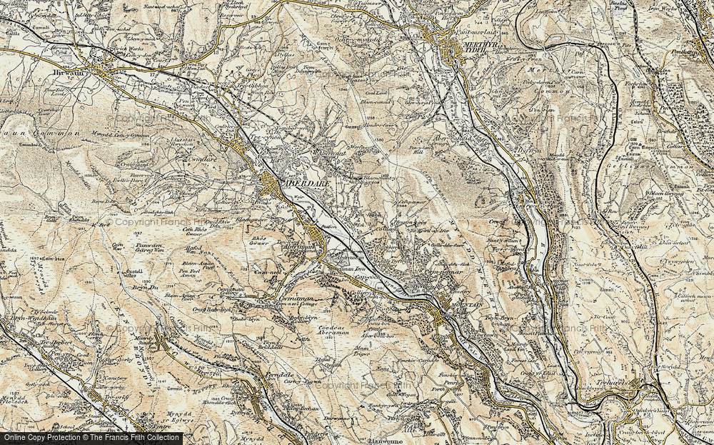 Old Map of Cwmbach, 1899-1900 in 1899-1900