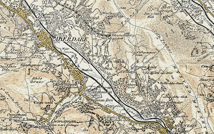 Old map of Cwmbach in 1899-1900