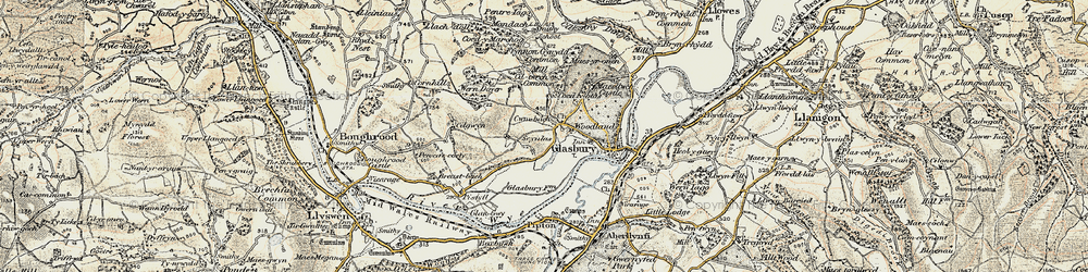 Old map of Woodlands in 1900-1902