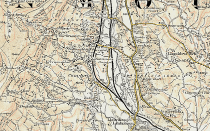 Old map of Cwmbran in 1899-1900