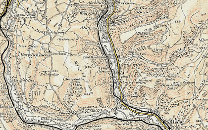 Old map of Cwmcarn in 1899-1900