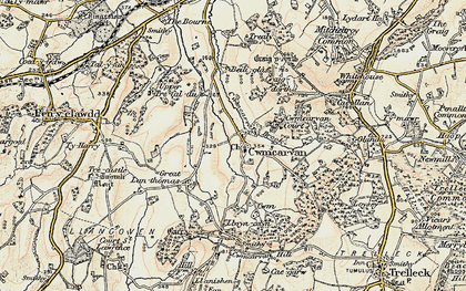 Old map of Bailey Glace in 1899-1900