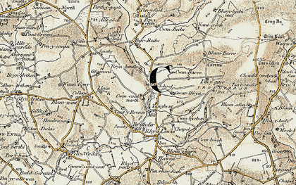 Old map of Aberbedw in 1901