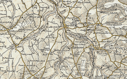 Old map of Cwmcych in 1901