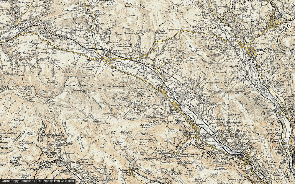Old Map of Cwmdare, 1899-1900 in 1899-1900