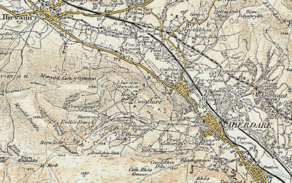 Old map of Cwmdare in 1899-1900