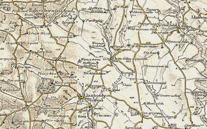 Old map of Cwmfelin Mynach in 1901