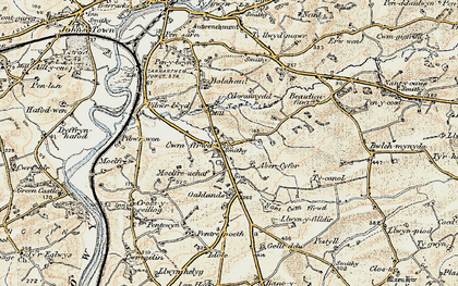 Old map of Abercyfor Uchaf in 1901