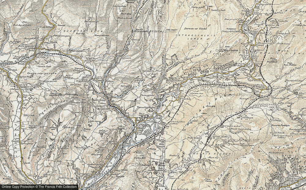 Old Map of Cwmgiedd, 1900-1901 in 1900-1901