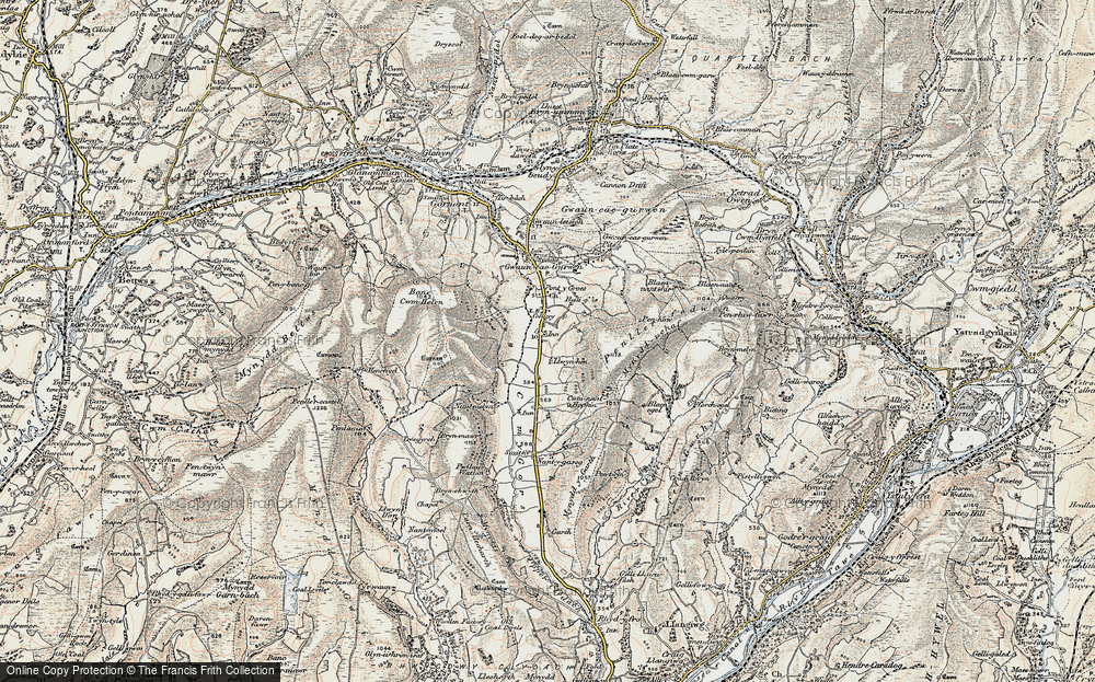Old Map of Historic Map covering Bancbryn in 1900-1901