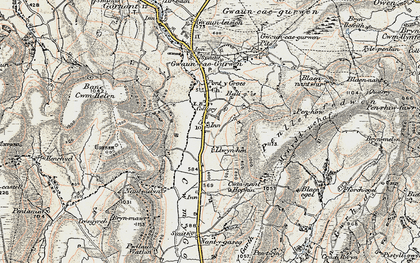 Old map of Bancbryn in 1900-1901