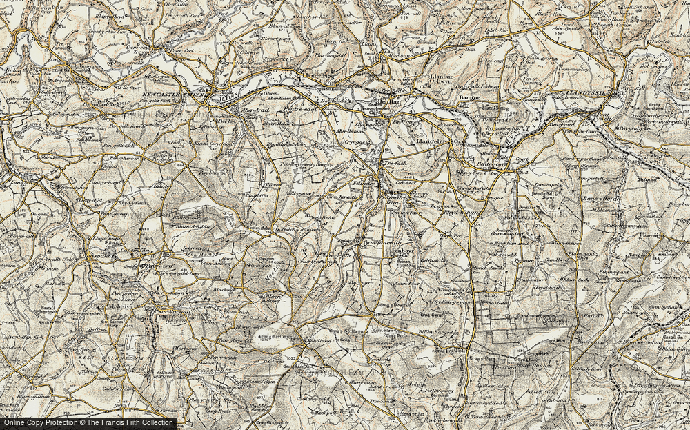 Old Map of Historic Map covering Tomenseba in 1901