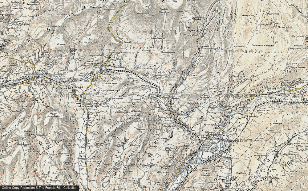 Old Map of Cwmllynfell, 1900-1901 in 1900-1901