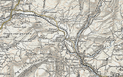 Old map of Cwmllynfell in 1900-1901
