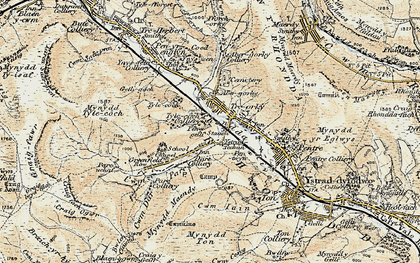 Old map of Cwmparc in 1899-1900