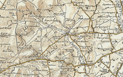 Old map of Alltgoch in 1901
