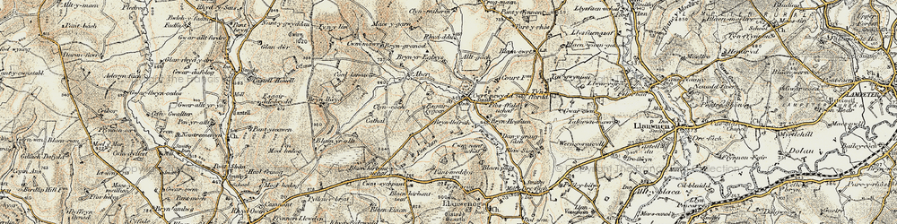 Old map of Alltgoch in 1901