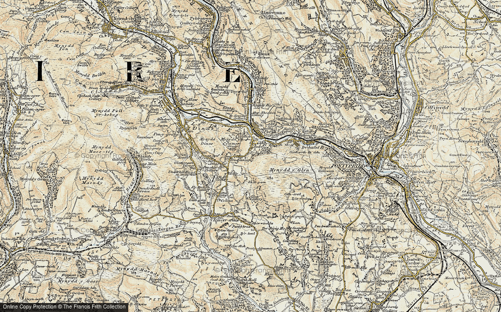 Old Map of Cymmer, 1899-1900 in 1899-1900
