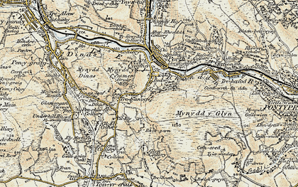 Old map of Cymmer in 1899-1900