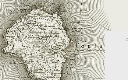 Old map of Leraback in 1911-1912