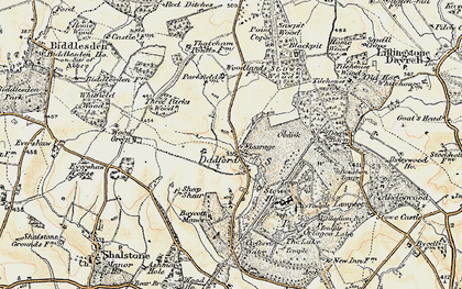 Old map of Stowe School in 1898-1901