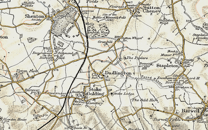 Old map of Ambion Wood in 1901-1903