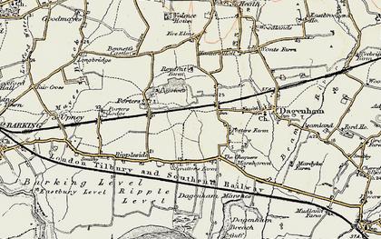 Old map of Dagenham in 1897-1902