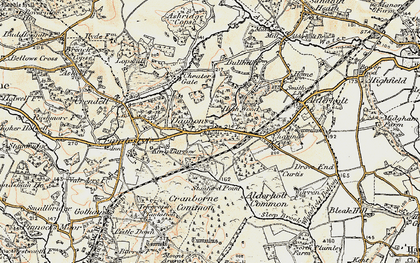 Old map of Alderholt Park in 1897-1909