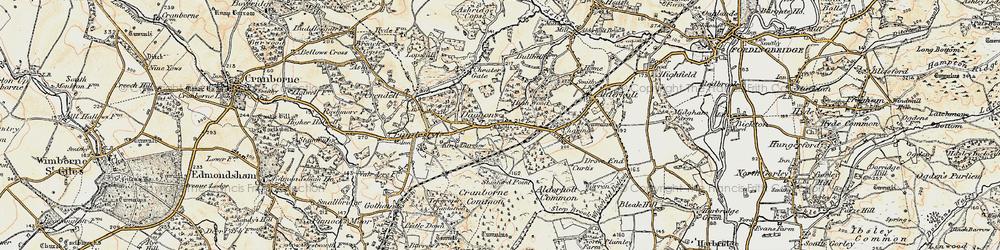Old map of Alderholt Park in 1897-1909