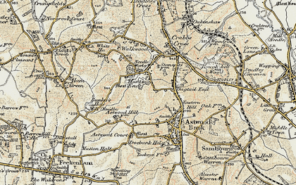 Old map of Astwood Court in 1899-1902