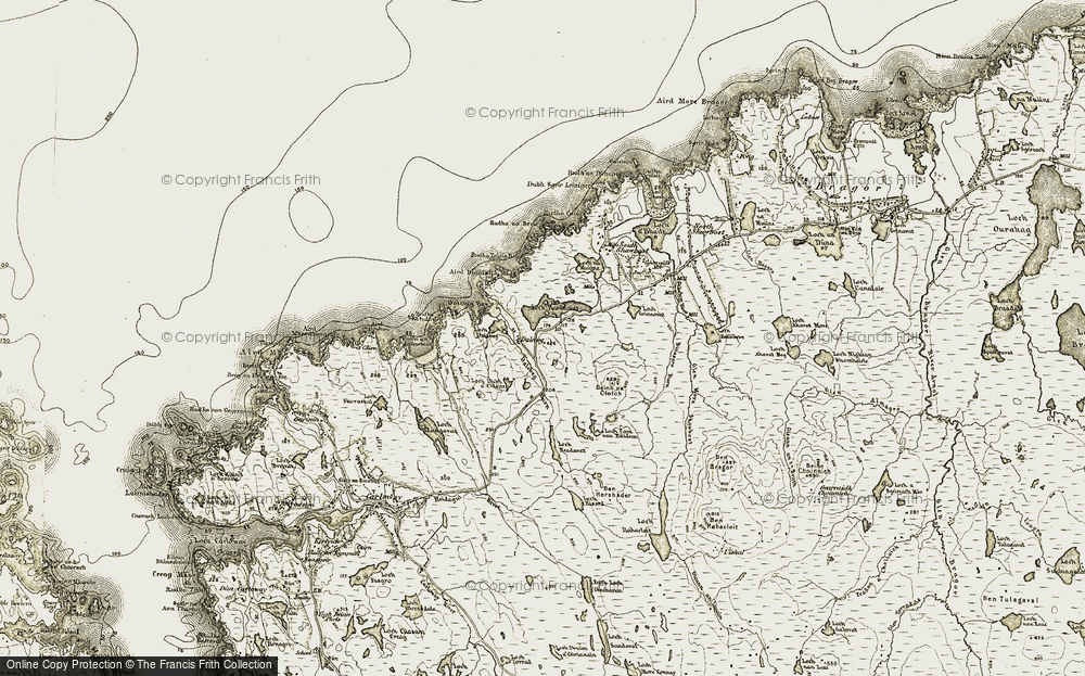 Old Map of Historic Map covering Àird Bianish in 1911