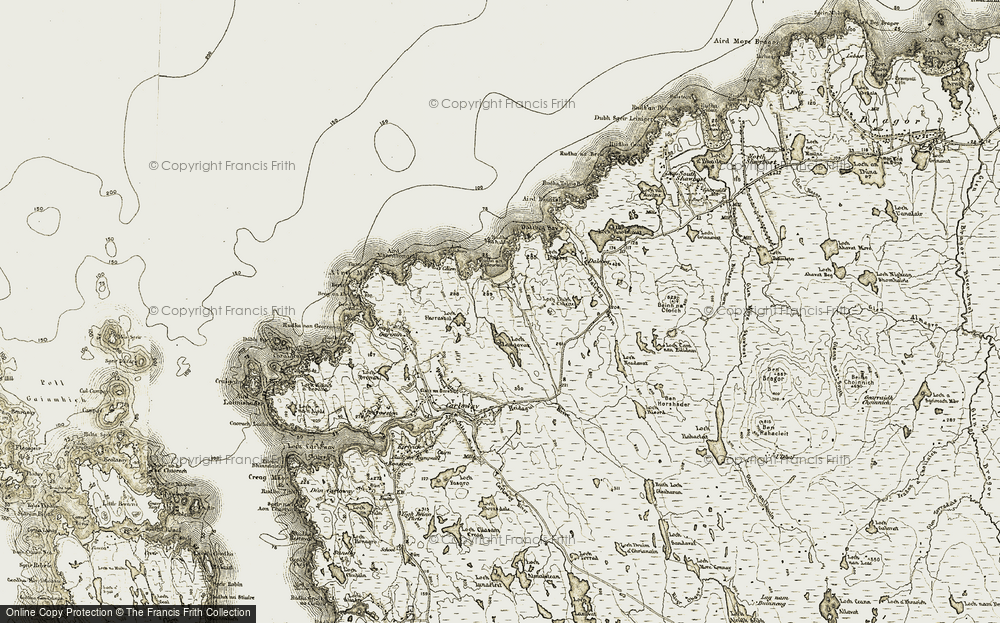 Old Map of Historic Map covering Bàgh Dhail Mòr in 1911