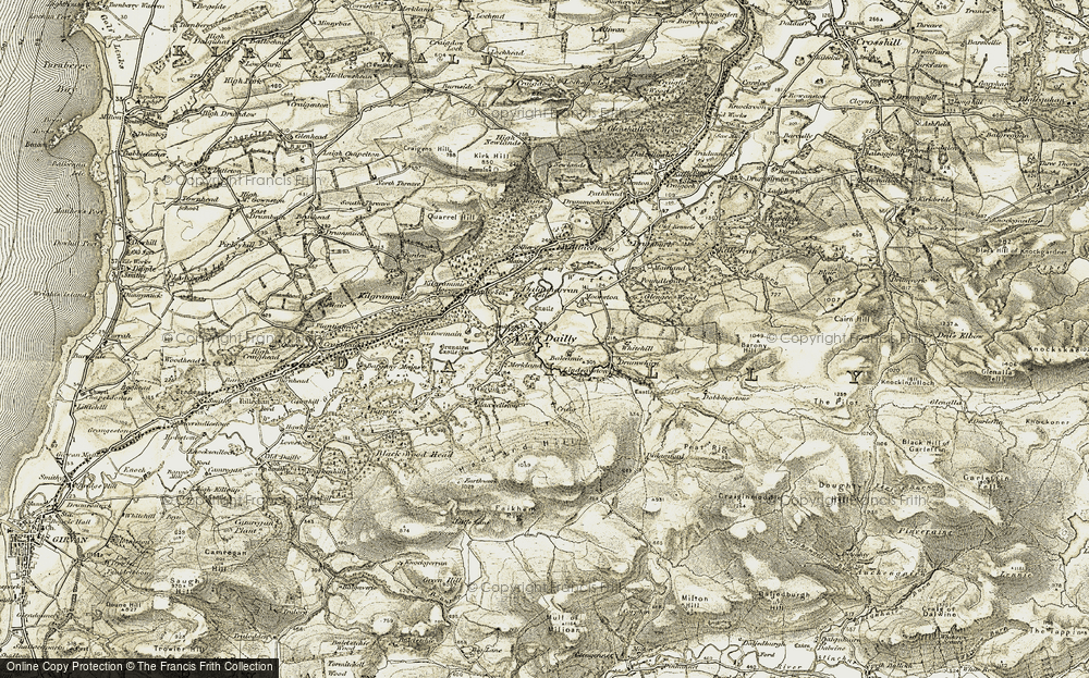Old Map of Historic Map covering Balcamie in 1905