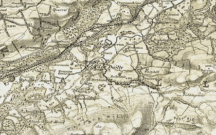 Old map of Dailly in 1905