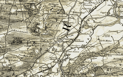 Old map of Wester Craigfoodie in 1906-1908