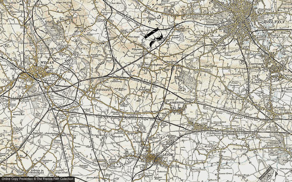 Old Map of Daisy Hill, 1903 in 1903